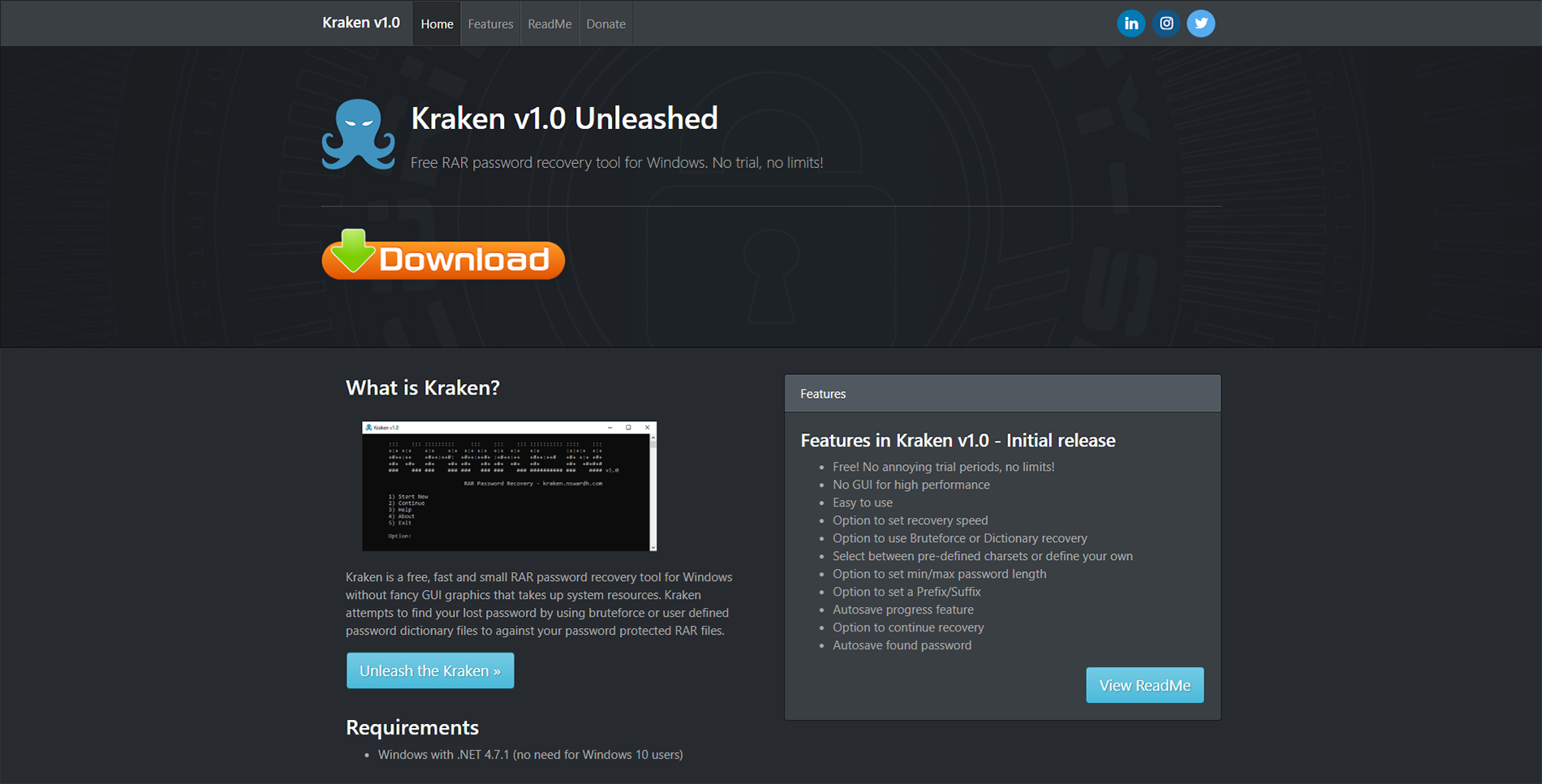Kraken - Free RAR, ZIP, 7-Zip & HASH password recovery tool